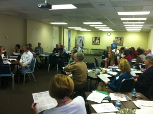 Members of the Charlotte Bridge Home's 3 task forces convene to plan for the March 2013 meeting.